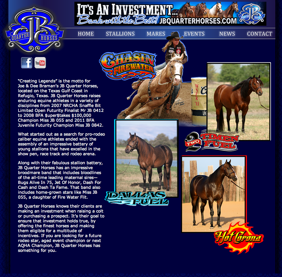 JB Quarter Horses Re-design