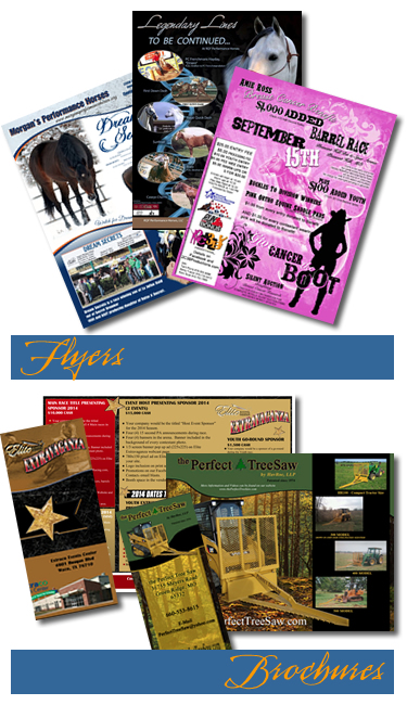 We create equine flyers and brochures