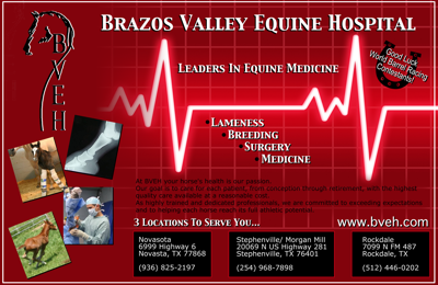 Brazos Valley Equine Hospital Finals Ad