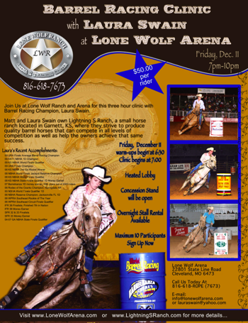 Laura Swain Barrel Horse Trainer